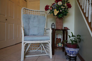 $20 OFF Shabby Chic Wingback Style Wicker Chair with Cushions
