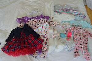 Bundle of 0 - 3 month baby clothes