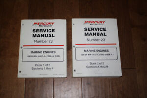 Mercury Service Manual #23     2 Books