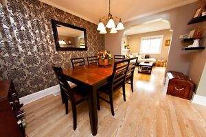 SOLID WOOD DINING SET (REDUCED)