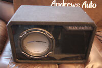 """Car Audio 10"""" MTX Jackhammer Sub in ported box with matching Amp"""