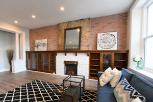 Newly Renovated 1 Bedroom w/ Exposed Brick, Laundry & Dishwasher
