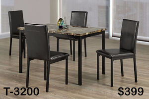 DINETTE/KITCHEN CHAIRS AND TABLE