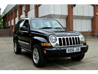 LATE 2006 56 JEEP CHEROKEE 3.7 V6 AUTO LIMITED EDITION IN BLACK 4WD PX SWAP