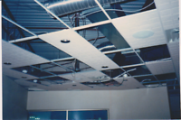 Commercial wall and ceiling repair.