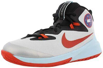 Nike Kids Future Court SD Basketball Shoes, Platinum/Orange, 5Y M Big Kid US