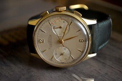 Angelus Chronograph Vintage Cal 215 All Original Oversize 38mm Swiss Made