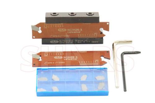 "15 PC Set 5/8"" Shank Self-Lock Cut-Off Tool +10pc Tin Coated Inserts $115 Off P]"