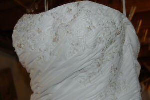 White Wedding Gown, Size 12