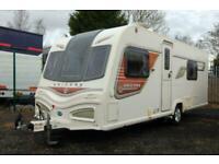 Bailey Unicorn II Cadiz single axle touring caravan, fixed twin beds