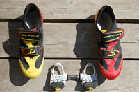 Northwave bike shoes and Look racing pedals
