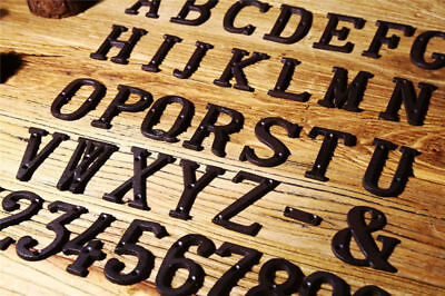 Vintage Decorative Metal Alphabet Letters Hanging Wall Sign Address House Number