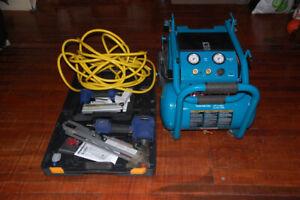 Compresseur Makita 5200 5.2 gal  3hp lubrifié à l'huile, 2 guns