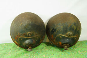 Vintage Tractor Lights - Rustic Farm Goods - Pair of Rusty Tract London Ontario image 5