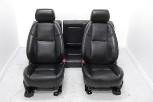Cadillac Escalade Silverado Crew BLACK LEATHER Front Rear Seats