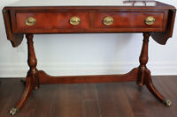 GORGEOUS BOMBAY DROP LEAF ENTRY WAY/ SOFA TABLE