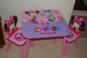 children table + 2 chairs set