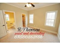 R Thomas,Paint and decorating services,for all your decorating needs