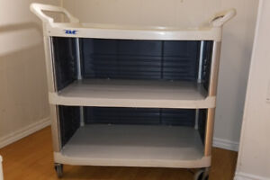 Xtra Utility Cart with Enclosed End Panels and Siding Off White
