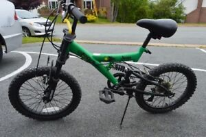 "Boy's bicycle 18"" wheels Jeep RZX18 Dual Shock"