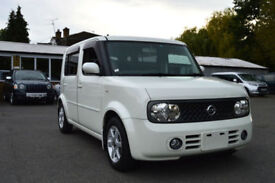 FRESH IMPORT FACE LIFT NISSAN CUBE CUBIC 1.5 AUTOMATIC 4WD 7 SEATER PEARL WHITE