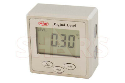 Shars Digital Angle Gage 0-360 With Magnetic Base Digital Level Bevel Gauge