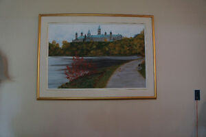 Toile originale parlement d'Ottawa Parliament original painting