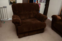 Lay Z Boy Microfiber Chair-and-a-Half Recliner