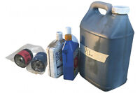 USED ENGINE MOTOR OR HYDRAULIC OIL & FILTERS