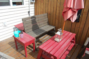 Solid Wood Lawn/Deck furniture - excellent condition