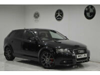 2008 Audi A3 2.0TDI 170PS Sportback quattro S Line+BLACK+RED LEATHER+SATNAV+2KEY