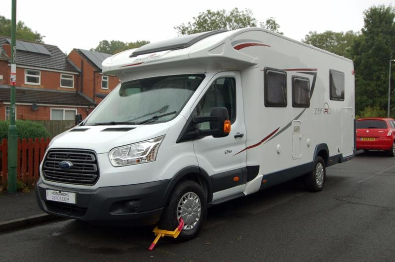Roller Team Zefiro 695P Island bed low profile motorhome with garage and extras