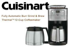 Lightly Used CUISINART DGB-900MTWBIHR Refurbished Automatic Burr Grind  Brew Thermal TM 12 Cup Coffeemaker, Silver Co...