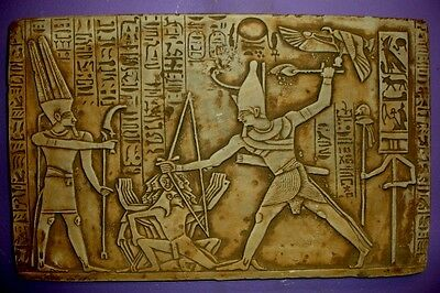 Ancient Egyptian Wall Decor King Ramses Kadesh Battle Plaque 16026