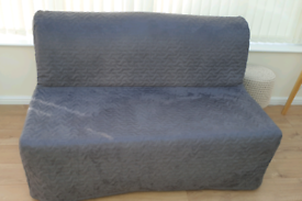 Ikea Lycksele sofa bed, grey, storage box, both in brand new condition