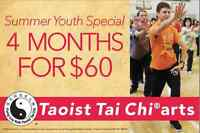 SUMMER YOUTH SPECIAL - Taoist Tai Chi® arts