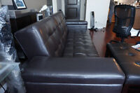 Three seater Sofa (non-leather synthetic), 4 years old