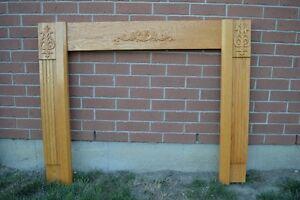 Oak Fireplace Mantel Windsor Region Ontario image 1