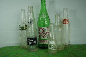 SET of 6 vintage SODA BOTTLES