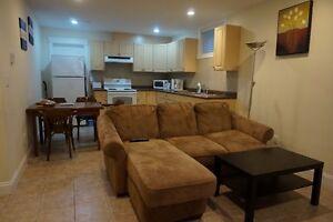 ☎☎  Brand new furnished  1 bd rm bsmt suite