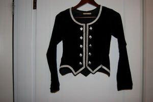 Highland Dance Costume - Black Velvet Jacket