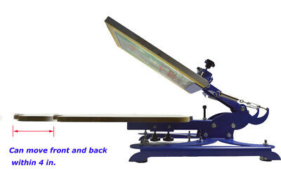 Free Shipping 1color Screen Press With Adjustable Screen And Pallet Silk Printer