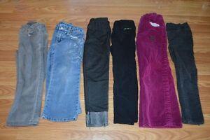 lot de pantalons fille  4 ans