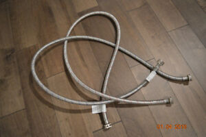 """Stainless Steel laundry flex hoses 3/4 x 60"""""""