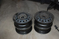 Four Michelin Tire Rims  14 inch