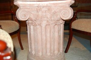 Glass Dining Table with Column Base, 4 Armchairs London Ontario image 2