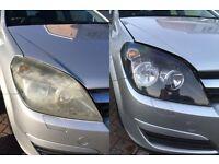 Headlight Restoration, Vauxhall Astra, 2001, 2002, 2003, 2004, 2005, 2006, 2007