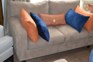 MICROFIBER LOVESEAT/SOFA