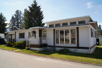 UPGRADED bright and well maintained - double wide mobile home