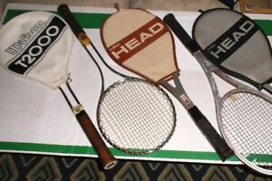 "VINTAGE WOOD AND METAL ""SIGNATURE"" TENNIS RACKETS FOR COLLECTORS"